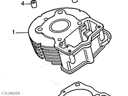 Honda Cb50w Dream 50 parts list partsmanual partsfiche