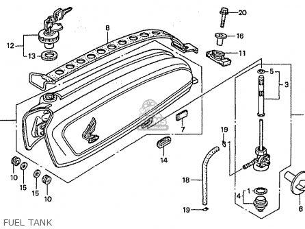 Honda Cb50w Dream Japan (11gcrvj3) parts list partsmanual
