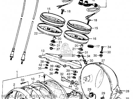 Honda CB550 FOUR 1975 CB550K0 USA parts lists and schematics