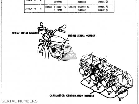 Honda CB550 FOUR CB550K3 1977 USA parts lists and schematics