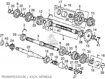Honda Cb550 Four Cb550k3 1977 Usa parts list partsmanual