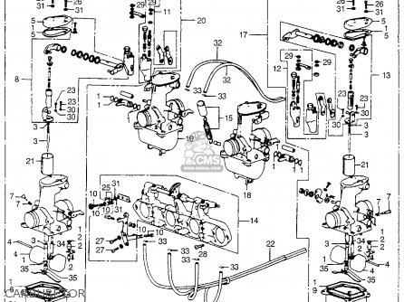Honda CB550 K1 FOUR 1975 USA parts lists and schematics