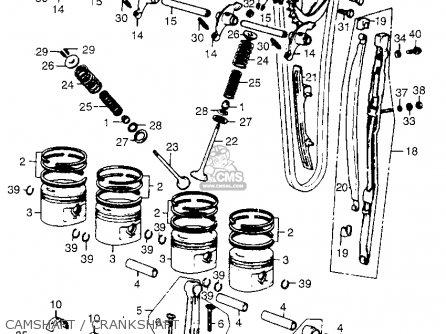 Honda CB550 K2 FOUR 1976 USA parts lists and schematics