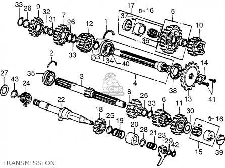 Honda Cb550f Super Sport 550 Four 1976 Usa parts list