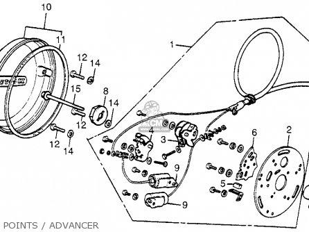 Honda Cb550f Super Sport 550 Four F0 1975 Usa parts list