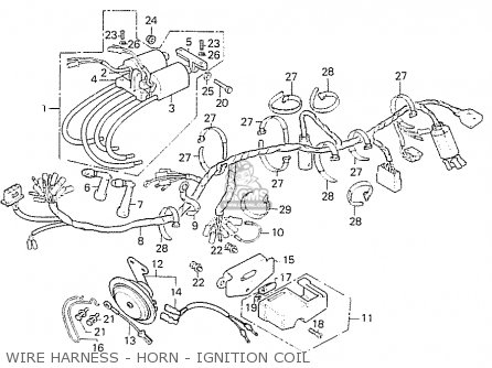 Honda Cb550f2 Super Sport 550 Four 1977 France parts list