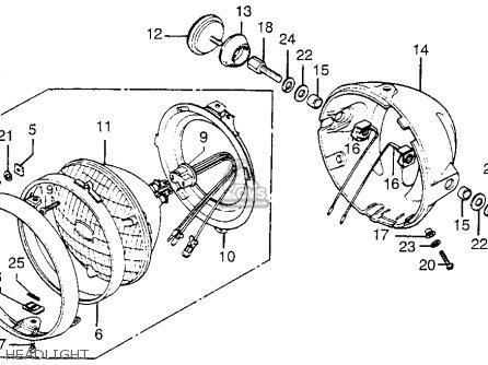 Honda Cb550k 1978 Usa parts list partsmanual partsfiche