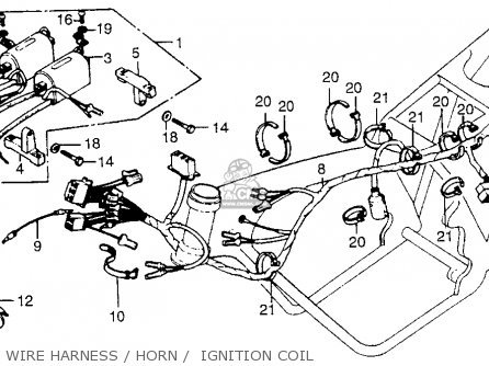 Honda Cb550k 1978 Usa parts list partsmanual partsfiche