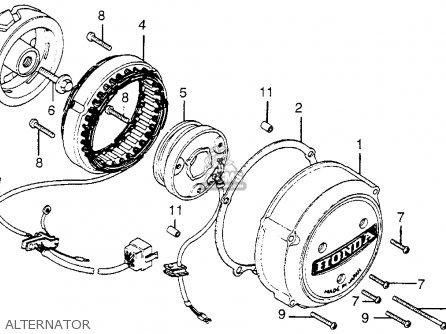 Honda Cb550k3 Four 1977 (usa) parts list partsmanual