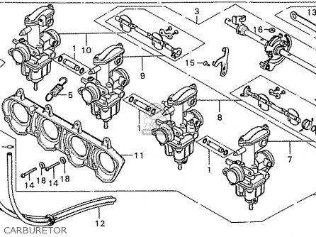 Honda Cb550k3 Four England parts list partsmanual partsfiche