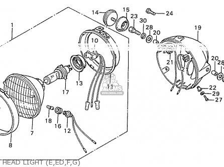 Honda CB550K3 FOUR EUROPEAN DIRECT SALES parts lists and