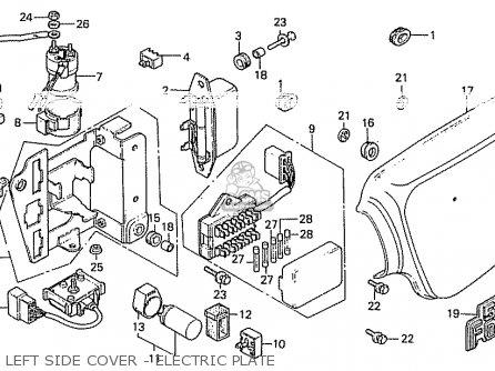 Honda Cb550k3 Four France parts list partsmanual partsfiche