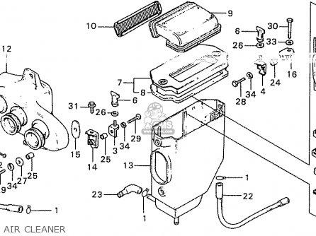 Honda Cb550k3 Four General Export Kmh parts list