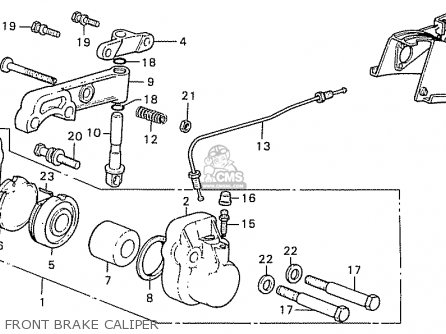 Honda Cb550k3 Four Germany parts list partsmanual partsfiche