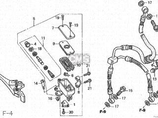 Honda Cb600f Hornet 1998 (w) Japan Pc34-100 parts list
