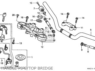 Honda CB600F HORNET 1998 (W) NETHERLANDS KPH parts lists
