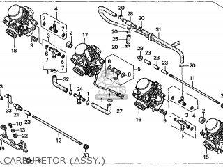 Honda Cb600f Hornet 1999 Australia / Kph parts list