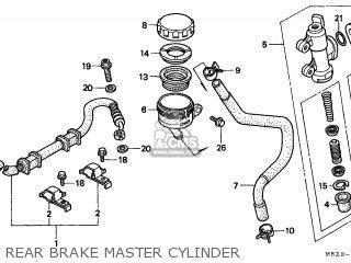 Honda Cb600f Hornet 1999 (x) England Mkh parts list