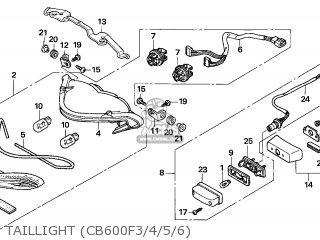 Honda CB600F HORNET 2006 (6) FRANCE parts lists and schematics