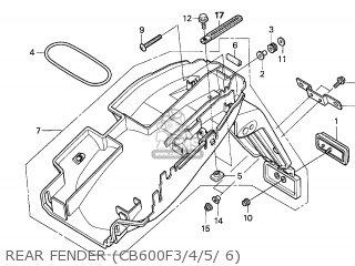 Honda CB600F HORNET 2006 (6) IRELAND parts lists and