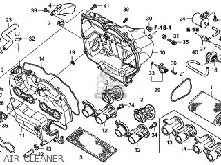 Honda CB600F HORNET 2007 (7) ENGLAND parts lists and
