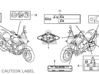 Honda CB600F HORNET 2011 (B) ENGLAND parts lists and