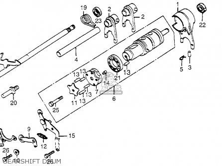 Honda Cb650 1979 Usa Gearshift Drum