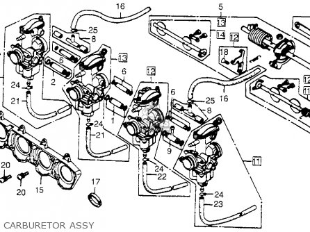 Honda CB650 1979 (Z) USA parts lists and schematics