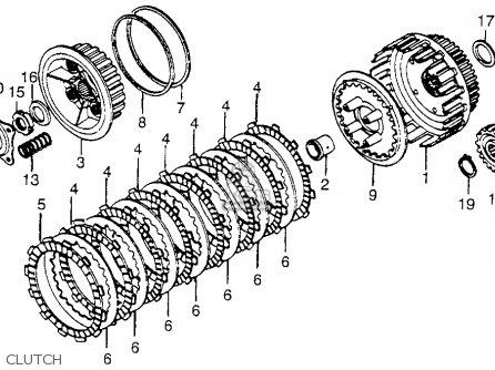 Honda CB650 1979 (Z) USA parts lists and schematics