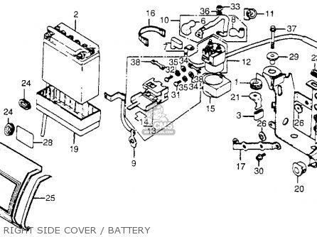 Honda Cb650 1979 (z) Usa parts list partsmanual partsfiche