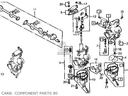 Honda Cb650 1980 (a) Usa parts list partsmanual partsfiche