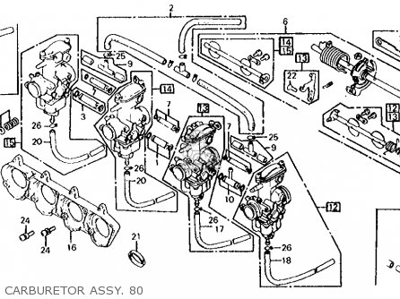 Honda Cb650 1980 (a) Usa parts list partsmanual partsfiche
