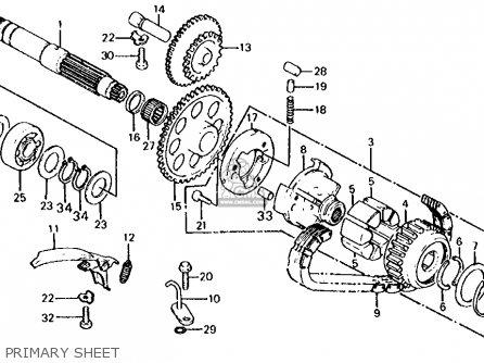 Honda CB650 1980 (A) USA parts lists and schematics