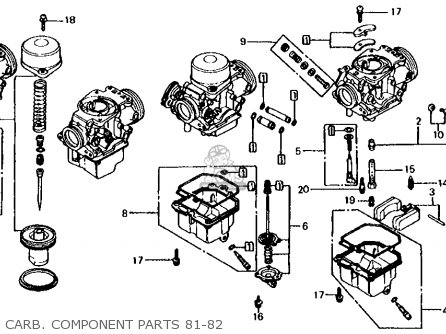Honda Cb650 1981 (b) Usa parts list partsmanual partsfiche