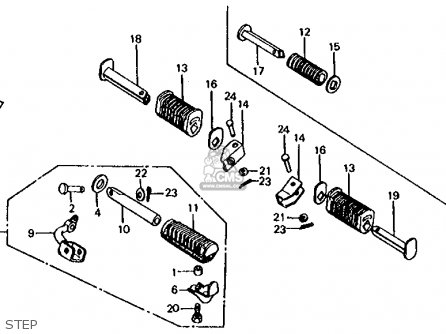 Honda CB650 1981 (B) USA parts lists and schematics