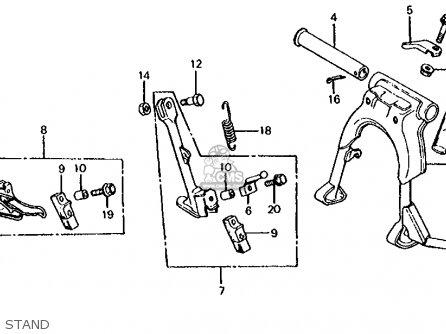 Honda Cb650 1981 Usa parts list partsmanual partsfiche