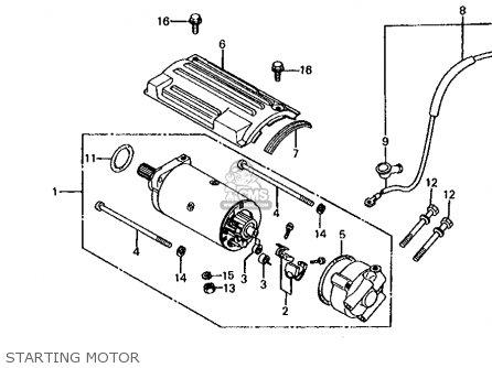 Honda Cb650 1981 Usa Starting Motor