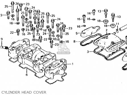 Honda CB650 1982 (C) USA parts lists and schematics