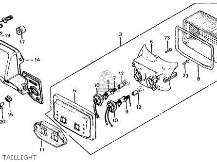 Honda CB650 1982 (C) USA parts lists and schematics