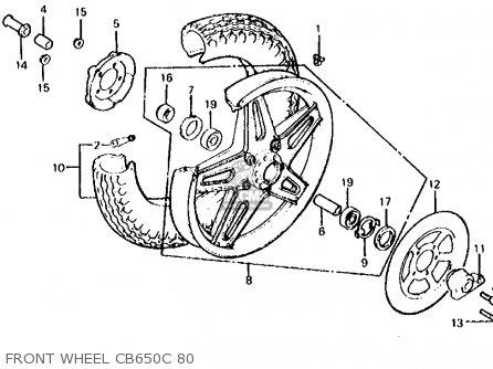 Honda Cb650c 1980 (a) Usa parts list partsmanual partsfiche