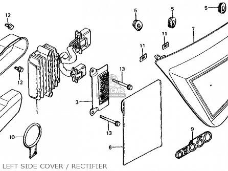 Honda CB650C 1980 (A) USA parts lists and schematics