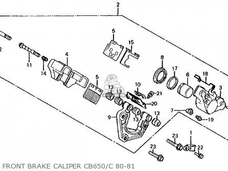 Honda Cb650c 1980 Usa parts list partsmanual partsfiche