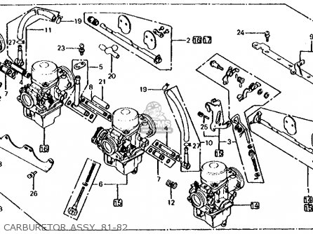 Honda CB650C 1981 (B) USA parts lists and schematics