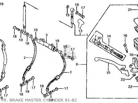 Honda Cb650c 1981 (b) Usa parts list partsmanual partsfiche