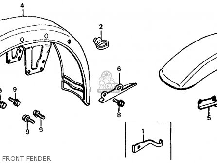 Honda CB650C 1981 (B) USA parts lists and schematics