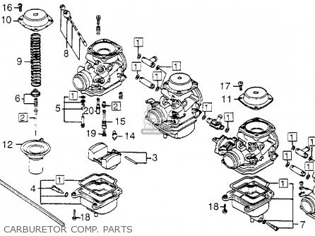 Honda Cb650sc 1983 Nighthawk 650 Usa parts list
