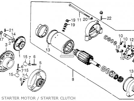 Honda Cb650sc 1985 Nighthawk 650 Usa parts list
