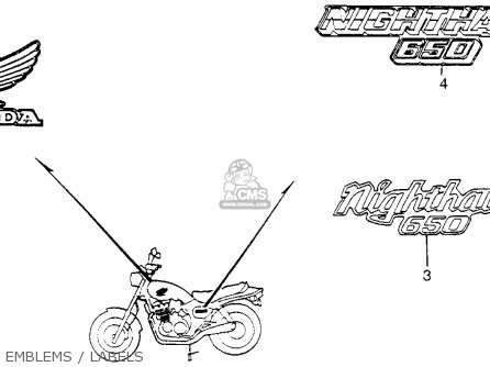 Honda CB650SC NIGHTHAWK 1983 (D) USA parts lists and