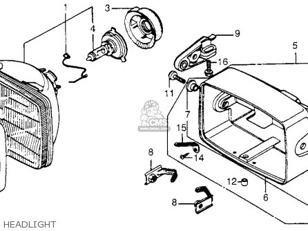 Honda CB650SC NIGHTHAWK 1984 (E) USA parts lists and