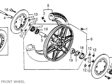 Honda CB650SC NIGHTHAWK 1985 (F) USA parts lists and